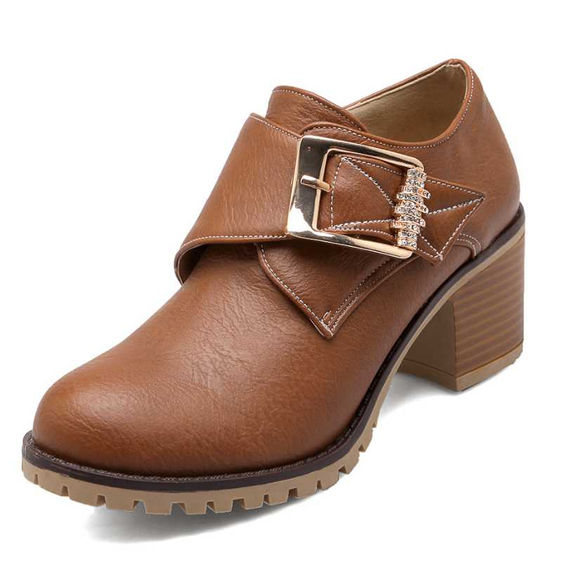 Chunky Wedding Heels: Women Pumps Gladiator Chunky Heels Spring Autumn Shoes