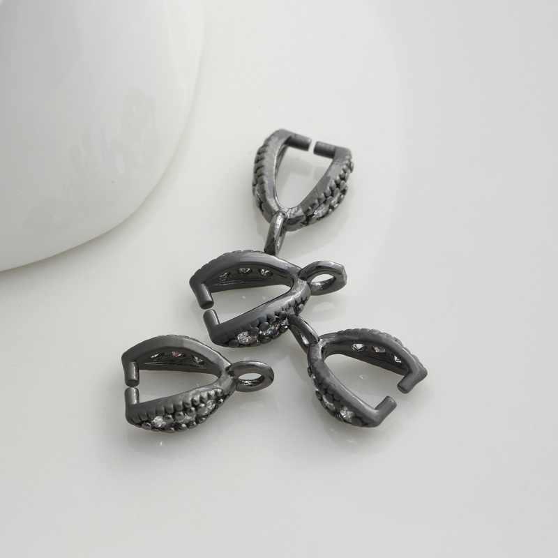 อุปกรณ์เสริมสำหรับต่างหู Clasp คลิปหยิก Bails Charm ตัวเชื่อมต่อหัวเข็มขัดจี้ DIY สร้อยคอสร้อยข้อมือต่างหูตัวเชื่อมต่ออัญมณี