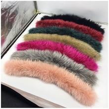 Foxmertor Новинка большой цвет мех зима для женщин натуральный мех енота воротник шарфы разных цветов негабаритных шеи кепки Роскошные