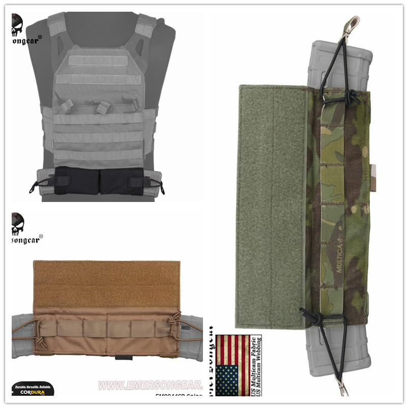 Emersongear Side-Pull Magazine Pouch M4 Emerson Molle Tactical Mag Pouch Hook&Loop Combat Gear EM9044 Multicam Coyote Brown MCBK