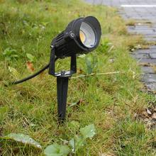 Стиль COB светильник для садовой лужайки 220 В 110 в 12 В наружный светодиодный светильник-Спайк 5 Вт дорожка пейзаж водонепроницаемые точечные лампы