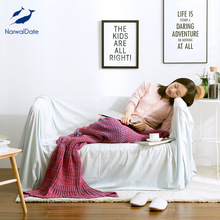 Narwaldate Winter Blanket Knitted Mermaid Tail Blanket  Gravity Blanket  Mink Blanket  100% Acrylic