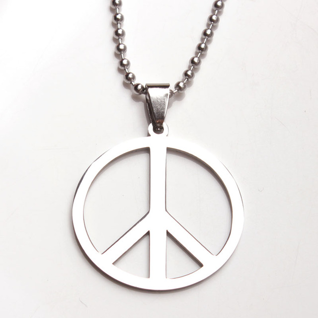 Skyhai classic peace sign love hippie pendant stainless steel men skyhai classic peace sign love hippie pendant stainless steel men women necklace jewelry mozeypictures Choice Image