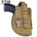 Coldre de Pistola militar Molle Militar Gun Holster com Mag Pouch para pistola Airsoft Militar ajuste Glock 17 18 19 23 M92 M96 M9
