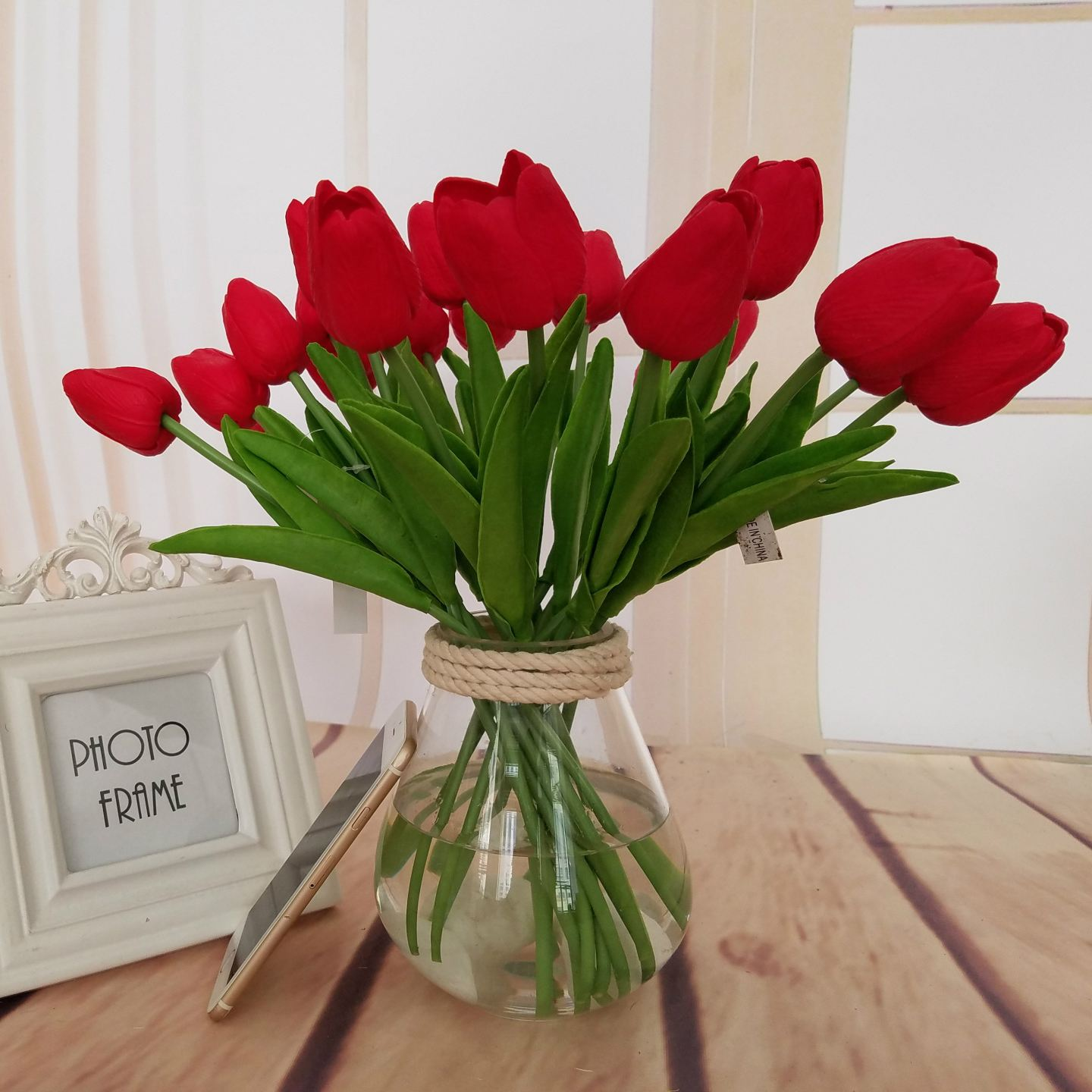 Single branch mini tulip artificial flowers fake flower for home single branch mini tulip artificial flowers fake flower for home wedding decoration pu fake bouquet flowers party home decor in artificial dried flowers izmirmasajfo