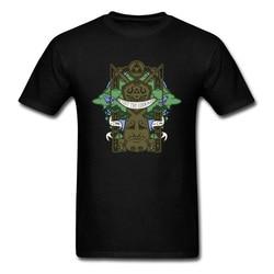 Teste sua coragem dos desenhos animados do vintage camiseta para meninos novidade árvore deus impressão preto t camisa masculina plus size algodão topos