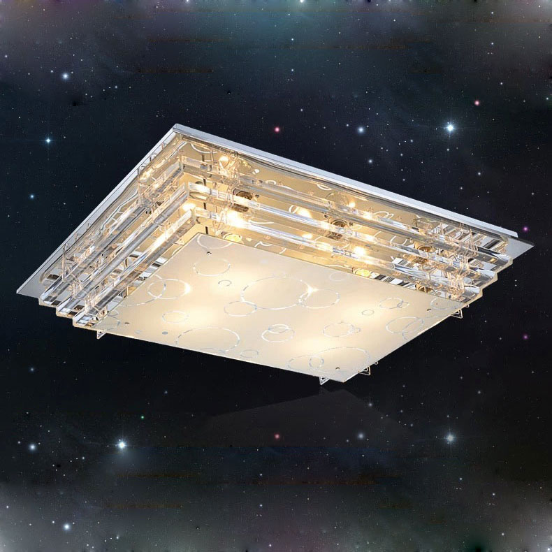 Modern minimalist E27 crystal LED ceiling light for living room dining room low voltage led ceiling lights lamp free shipping ...