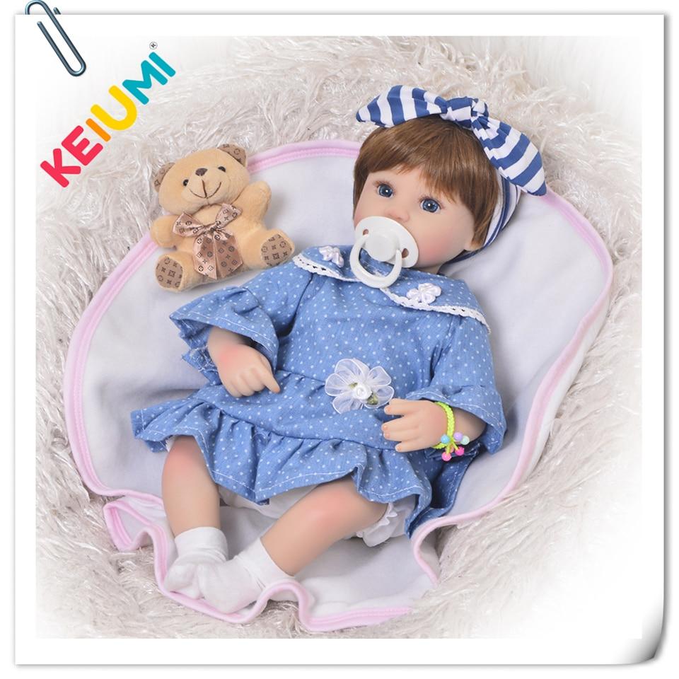 New Arrival 17 Inch Reborn Baby Doll Full Body Silicone 57 cm Realistic Princess Newborn Dolls Cloth Body For Girl Playmates