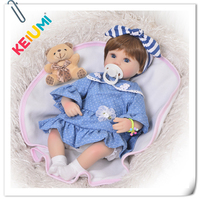 New Arrival 17 Inch Reborn Baby Doll Full Body Silicone 57 cm Realistic Princess Newborn Dolls Cloth Body For Girl Playmates