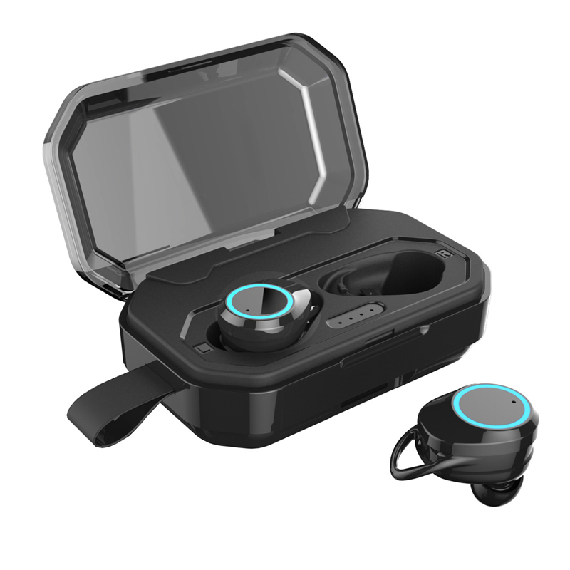 HANTOPER casque sans fil 5.0 Bluetooth basse profonde IPX6 extérieur sans fil écouteurs avec 3000 mAh batterie externe pour iPhone Xiaomi