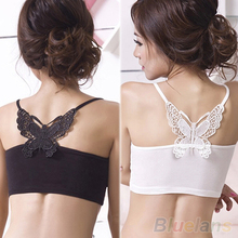 Hot New Sexy Women Lace Strap Sleeveless Shirt Vest Blouse Tank Crop Top  0JI3