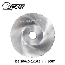 XCAN 1 шт. диаметр 100 мм зубы 108 Z высокоскоростной стальной пильный диск деревообрабатывающий пильный диск для резки металла режущая пила