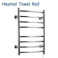 220V/110V Heated Towel Rail Holder Bathroom AccessoriesTowel Rack Stainless Steel ElectricTowel Warmer Towel Dryer 80w