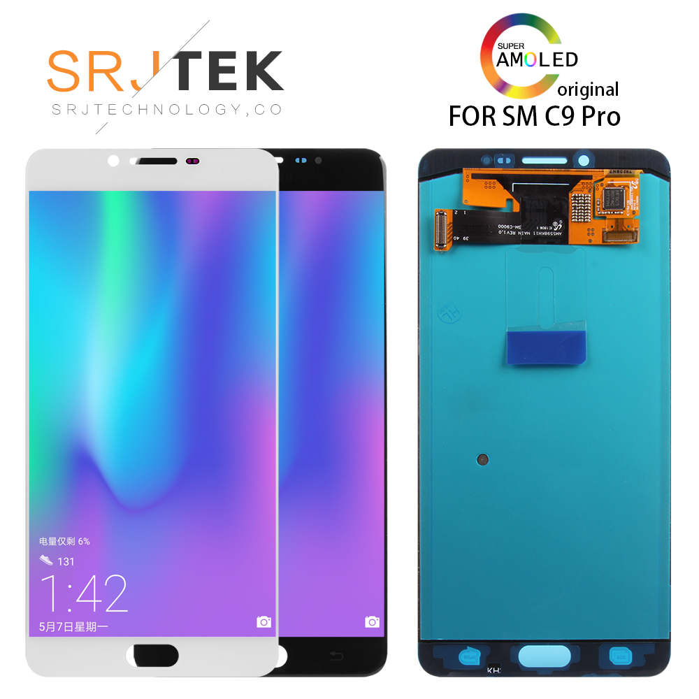 ORIGINAL 6.0 SUPER AMOLED For Samsung Galaxy C9 Pro C9000 LCD Display Touch Screen Digitizer Assembly Replacement Parts c9 proORIGINAL 6.0 SUPER AMOLED For Samsung Galaxy C9 Pro C9000 LCD Display Touch Screen Digitizer Assembly Replacement Parts c9 pro