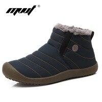 MVVT Süper sıcak Erkek kış boots Unisex kaliteli kar botları erkekler için su geçirmez sıcak kış ayakkabı erkek ayak bileği çizmeler ile kürk