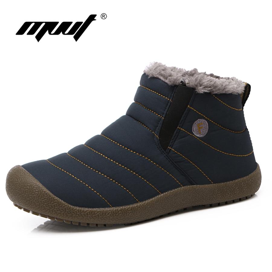 MVVT Super warm Men winter boots Unisex quality snow boots