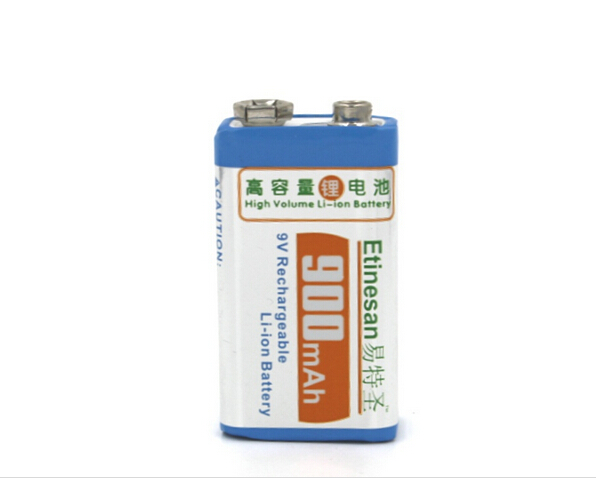 Фото Powerful micphone battery 900mAh 9v li-ion lithium Rechargeable 9 Volt Battery Manufacturer