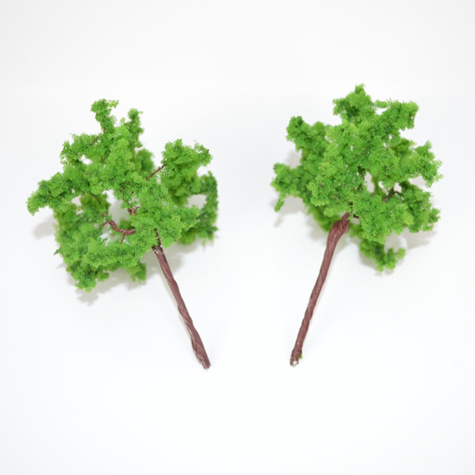 100pcs 7cm Miniature Mini Model Wire Iron Metal Tree For Architectural Landscape Scenery Road Layout Simulation