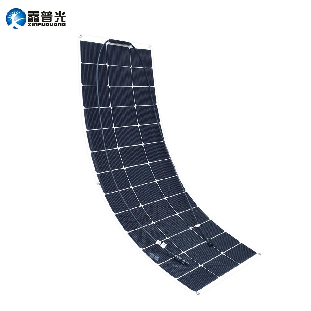 Xinpuguang Solar Panel 100w 20v New Desigh Efficient Flexible Solar Cell for 12v System DIY Kit RV Car Marine Boat Home Power
