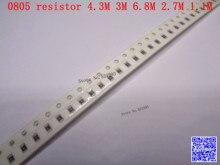0805 F SMD resistor 1/8W 4.3M 3M 6.8M 2.7M 1.1M ohm 1% 2012 Chip resistor 500PCS/LOT