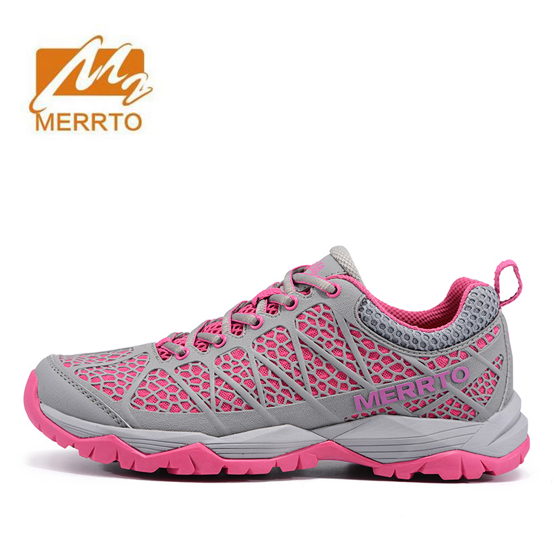 2017 MERRTO Women's Sports Outdoor Hiking Trekking Shoes Sneakers For Women Mesh Climbing Mountain Shoes Woman Senderismo купить