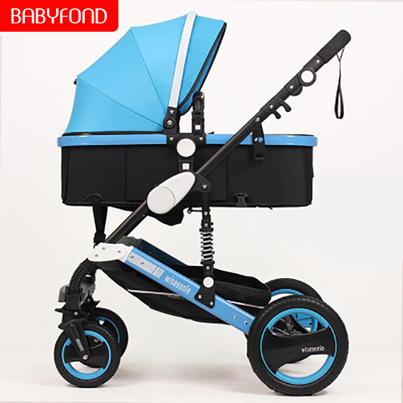 Gold frame frame 2 in 1 baby stroller lying or dampening folding light weight two-sided child four seasons free shippin
