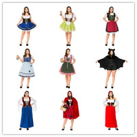 Womens Beer Maid Wench Traditional German Bavarian costume Plus size sexy Oktoberfest costume for Halloween Carnival Purim Day