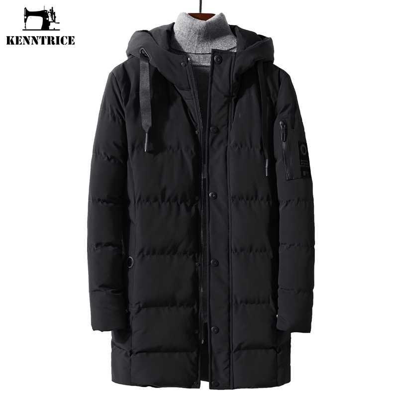 f5b3de2a5efd KENNTRICE для мужчин s парка зимняя куртка стеганая на молнии с капюшоном  зимние куртки большой размеры