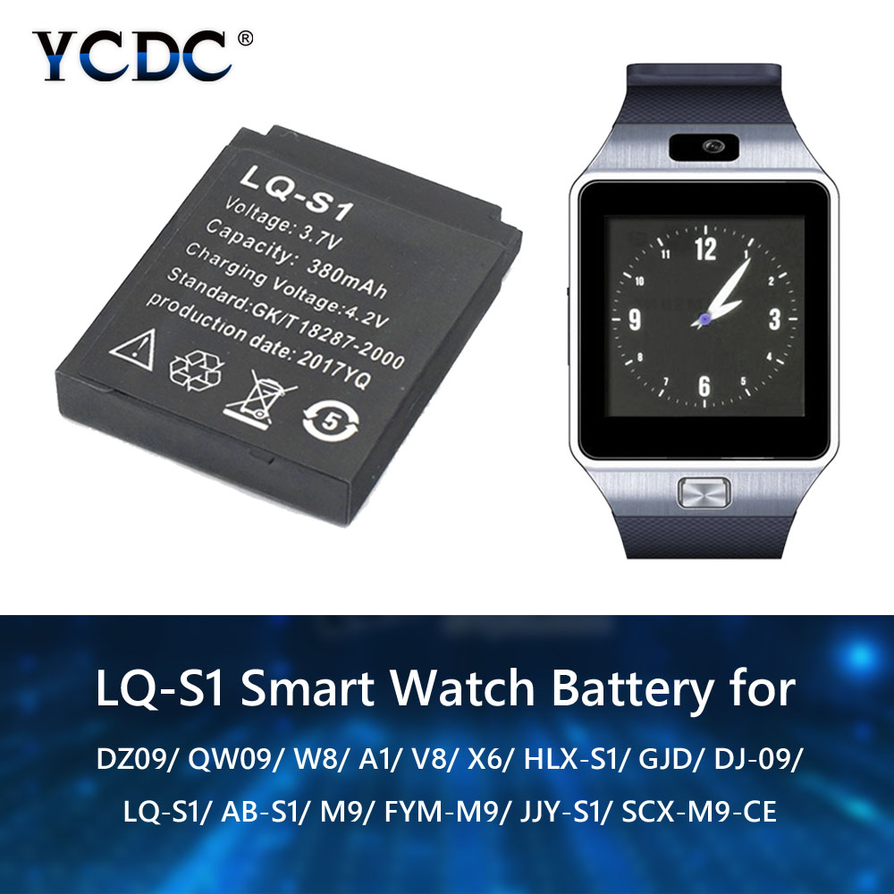 LQ-S1 3.7V Rechargeable Li-ion Polymer Battery For Smart Watch HLX-S1 GJD DJ-09 AB-S1 M9 FYM-M9 JJY-S1 DZ09 QW09 W8 A1 V8 X6 wall hanging art decor forest river print tapestry