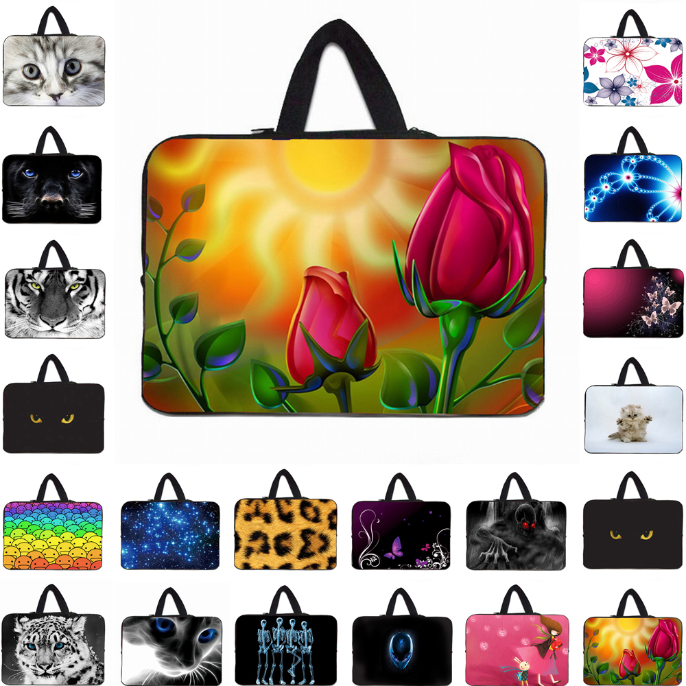 Viviration Notebook Neoprene Carry Bag Cover Case For Macbook Air 11 13 Pro 15 Fashion 10 12 13 14 15 17 Laptop Handle Pouch Bag