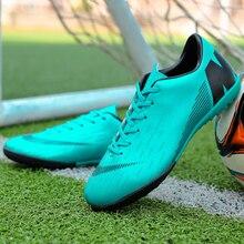 Los hombres zapatos de fútbol de interior zapatos de Futsal con calcetines  entrenador profesional TF bota e431cfeb738e5