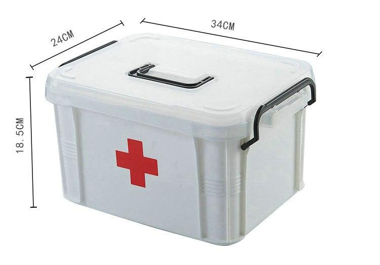 Grande Famille Médecine Kit Contient Médicaux et de Réadaptation Hôpital des Fournitures D'urgence Catastrophe Prévention Trousse de Premiers soins