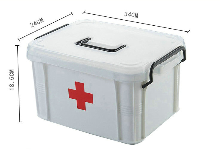 Large Family Medicine Kit Contains Medical and Rehabilitation Supplies Hospital Emergency Disaster Prevention First Aid Kit