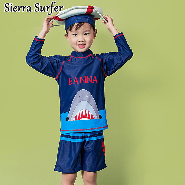 a62ae4a5f0f Boys Swimwear Kids Bikini Child 2018 Children Boy Baby Super Cute 2002 Long  Sleeve Sun Flower Swimsuit Biquini Infantil Kinder