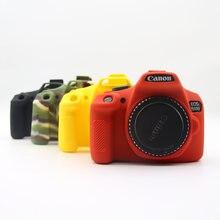 Câmera agradável Suave Borracha de Silicone Pele Caso Capa de Proteção Do Corpo Para Canon1500D 1300D Câmera Saco de couro