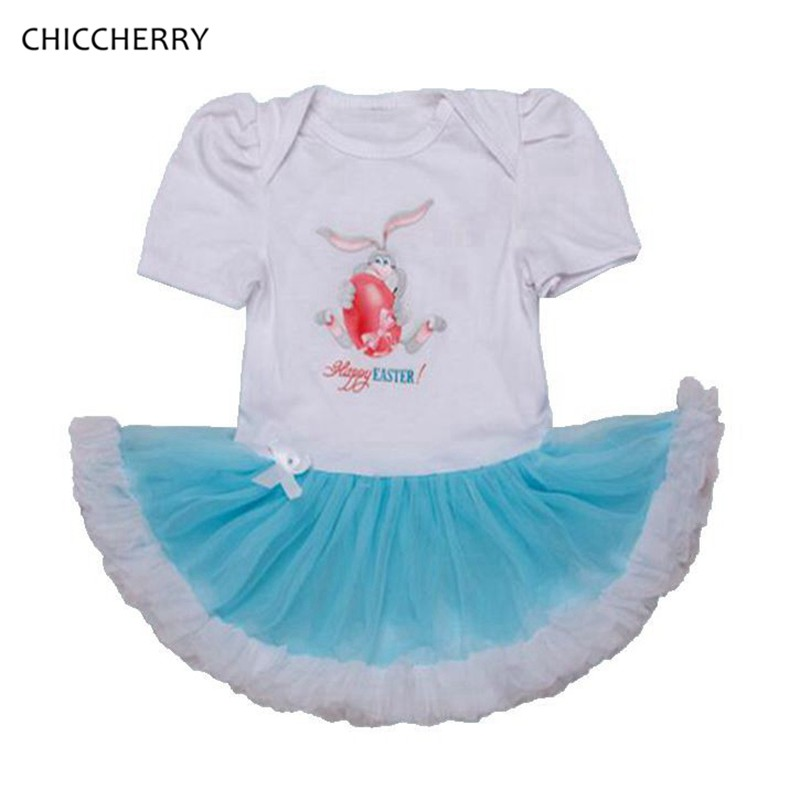 Happy Easter Day Baby Girl Clothes Summer Toddler Lace Romper Dress Easter Rabbit Tutu Outfits Vestido De Bebe Kids Costumes