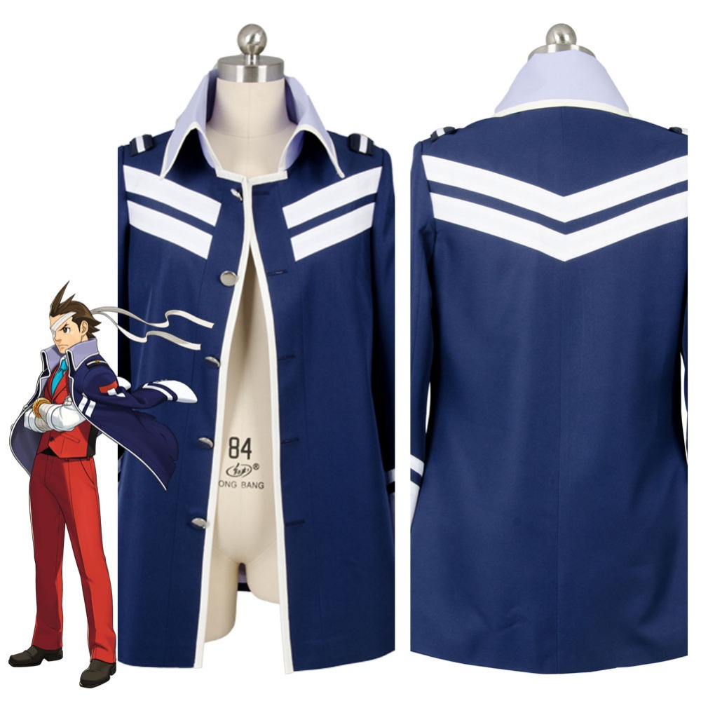 New Movie Gyakuten Saiban 4 Apollo Justice: Ace Attorney Polly Coat Jacket Only Cosplay Costume For Adult Men Women