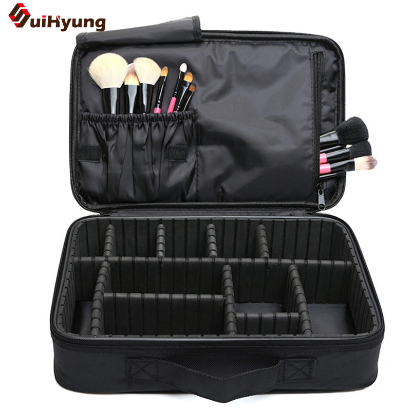 Suihyung Cosmetic Bag Big Capacity Portable Cosmetic Case Makeup Artist professional Storage Bag Travel Makeup Bag 2 Size spark storage bag portable carrying case storage box for spark drone accessories can put remote control battery and other parts
