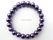 {fashion 8mm purple pearl bracelet for women,purple friendship bracelet jewelry,fine quality purple beads stand bracelets(China)