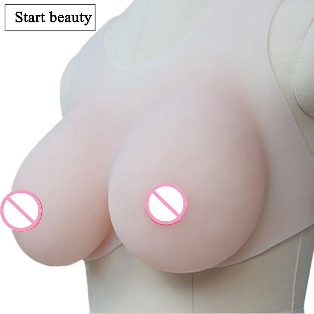 1 pair 600g B Cup Bionic Silicone Breast Form Artificial Bust Enhancer Fake Boobs with Silicone Strap vagina for crossdresser 1 pair gg cup nude skin tone 2800g silicone breast form with straps