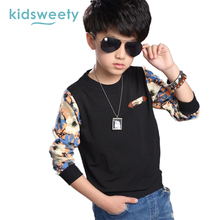 Kidsweety Boys Sweatshirts Spring Cotton Lengthy Sleeve Floral Pullover Youngsters Print O-Neck Hoodies Floral Free Boys Sweatshirts