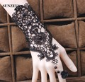 Black Evening Gloves High Quality Vintage Lace Wedding Gloves Women Bridal Gloves New Accessories BV-041