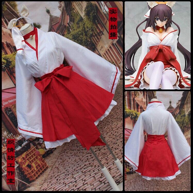Anime Inu x Boku SS Shirakiin Ririchocos femme kimono