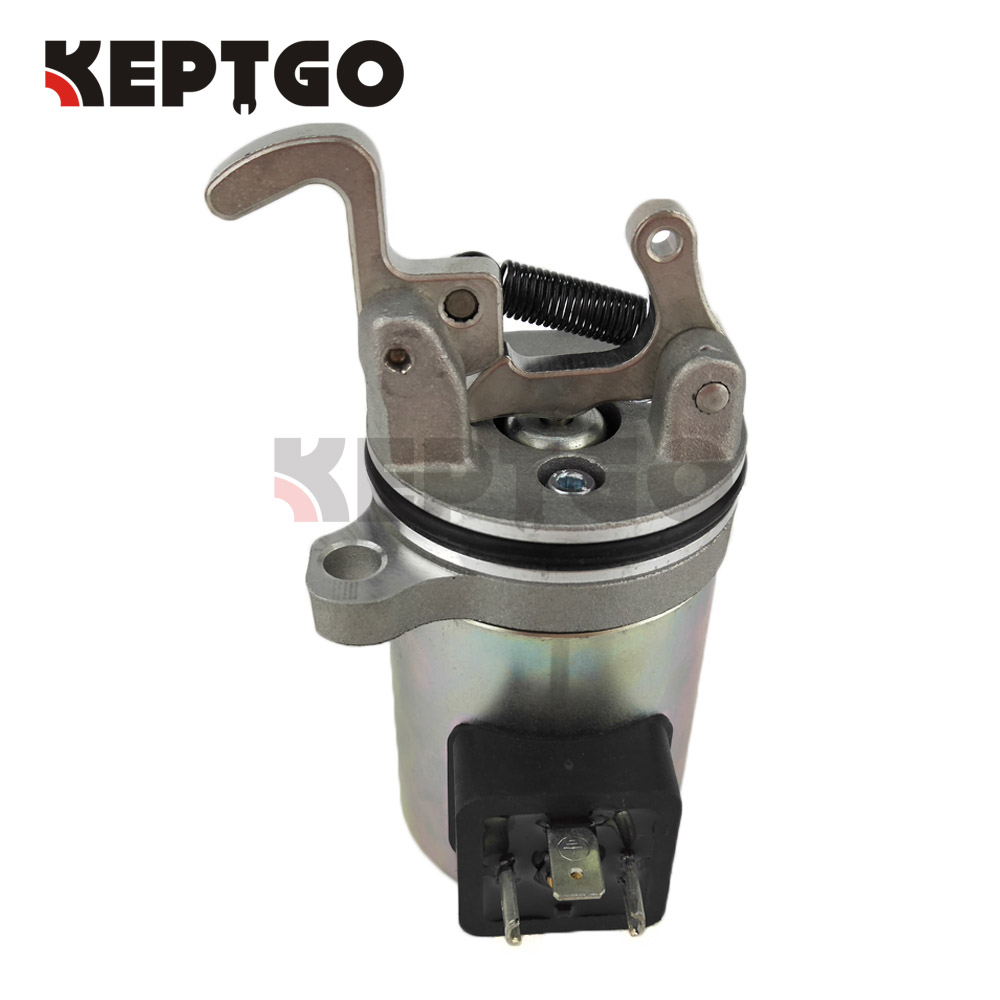 12V Stop Solenoid Valve 0417 0534R Fit For Deutz BF4M1011F Bobcat Skid Steer Loader 04170534R new turbo for deutz bf4m1011f turbocharger with gasket bobcat 863