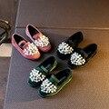 Новые Девушки 2017 мода Квартиры С diamind Кроссовки Детские мягкие Shoes Casual Замши Способа Прекрасная Обувь Для Ковылять Малыш