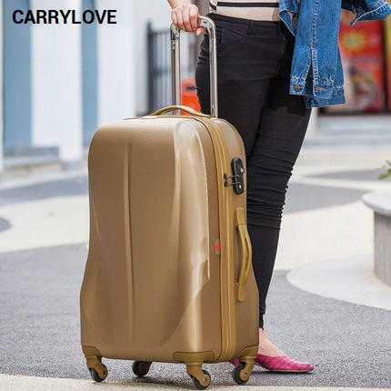 CARRYLOVE business luggage series 20/24 inch size gold PC Rolling Luggage Spinner brand Travel Suitcase цена