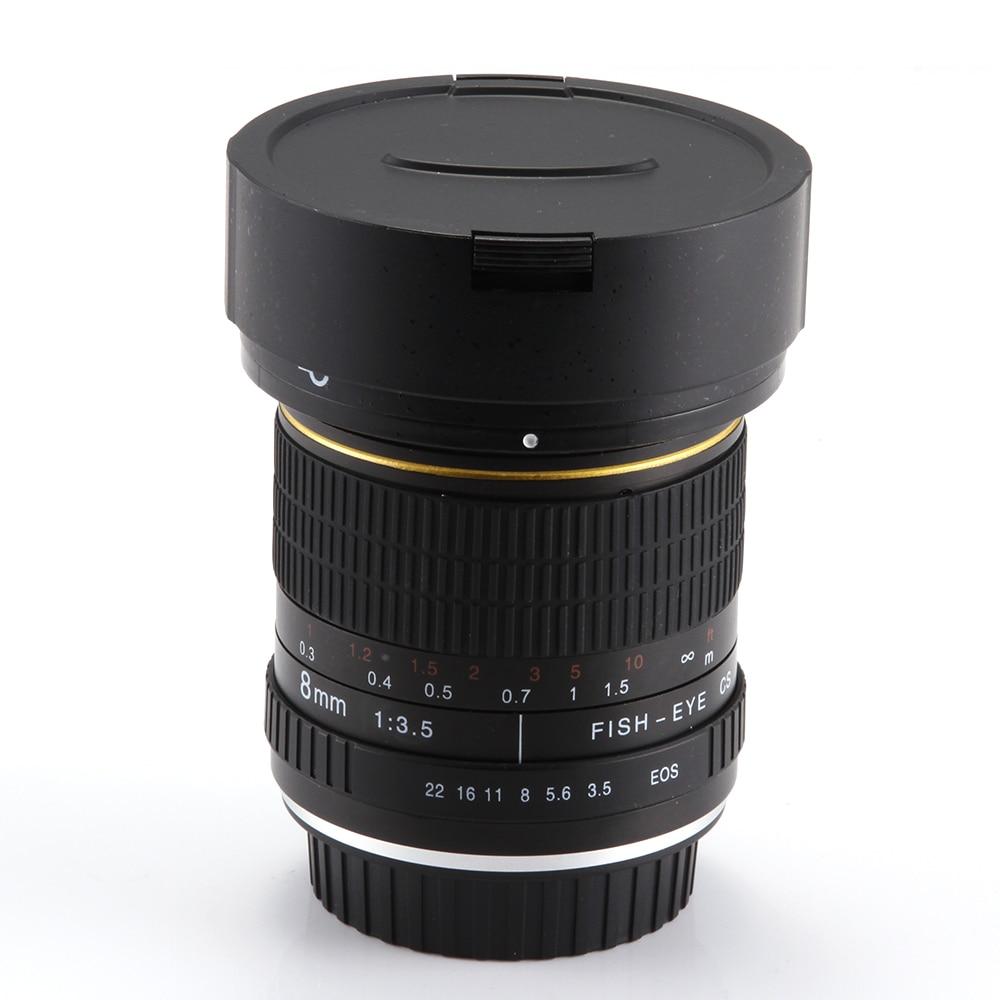 Objectif Fisheye 8mm f/3.5 Super grand Angle pour Canon 5D Mark III II 3 7D 6D 70D 60D