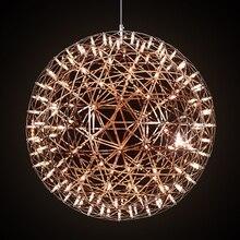 JEMMY HO Moooi Raimond Firework LLEVÓ Iluminaciones Para Vestíbulo Luz Colgante Bola de Acero Inoxidable Accesorios de La Lámpara Creativa Moderna