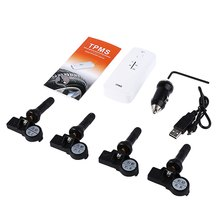 TPI11 TPMS Bluetooth 4.0 Tire Pressure Monitor Internal Sensor Support 4 Tires with Prevent Tire Explosion Easy to Install