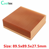 High Quality 89.5x89.5x27.5mm Pure Copper Heatsink Radiator Heat Sink Cooling Cooler for Electronic Chip LED Heat Dissipation